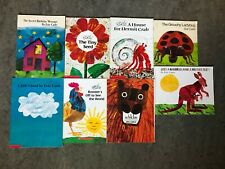 Lot of (8) Eric Carle Soft Cover Books Plus Hard Cover Mister Seahorse