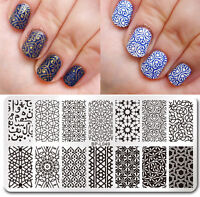 Born Pretty Nail Art Stamping Plates Vines Cross Pattern Image Templates