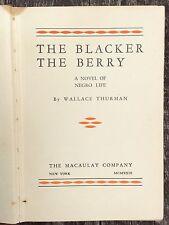 THE BLACKER THE BERRY 1st ed rare NY 1929 WALLACE THURMAN Harlem Renaissance