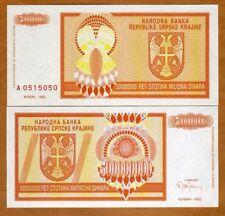 Croatia, Knin 500,000,000 Dinara, 1993, P-R16, A-Prefix, UNC > Bosnian War