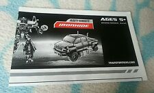 Transformers MOVIE VOYAGER IRONHIDE INSTRUCTION BOOKLET ONLY