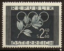 Autriche 1952 N°808 2s40 + 60g Bleu noir N**. P116 P116