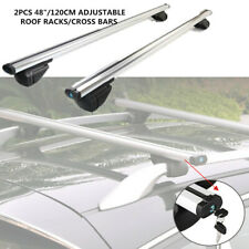 "SUV Aluminum 48"" Cross Bar Top Luggage Adjustable Roof Rack Cargo Rail 175 lbs"