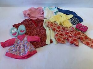 Doll Clothes Mixed Set Various Sizes & Brands Shirts Pants Etc Battat & More