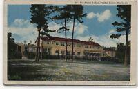 Del Monte Lodge Pebble Beach,California Linen Postcard