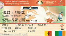 WALES v FRANCE (Rugby Union Six Nations 7.3.2004) Used Match Ticket