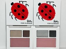 2pc CLINIQUE All About Shadow ~Morning Java + Smoke & Mirrors (lady bug design)