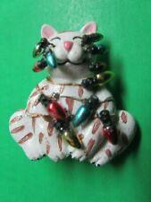Vintage Christmas Lights Kitty Cat Resin Christmas Lapel Pin (15)
