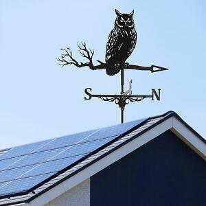 Practical Owl Weathervane Roof Mount Weather Vane Yard Farm 30inch Tall