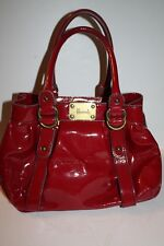 """Harrod"" Red Patent Leather Handbag"