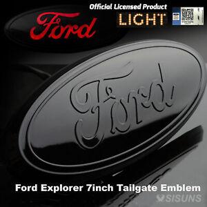 Ford Tailgate Emblem Compatible with SUV Trucks 7 inch LED Light Up Brake light