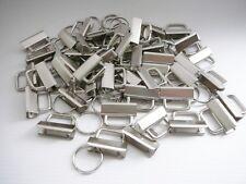 48 Stk. Schlüsselband Rohlinge mit Schlüsselringen 30 mm Klemmschließenanhänger