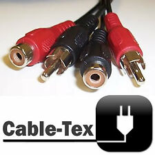 Cable-Tex 10m Double RCA Phono Male to Female Cable
