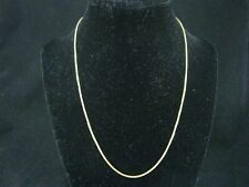 "22KT 917 Yellow Gold 1.1mm Thick Open Box Chain Link Necklace 18"" Long; 5.5g"