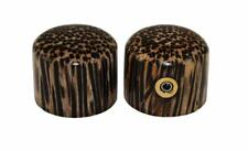Pair of Tigerwood Dome Knobs for Electric Guitar and Bass