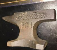 Indian Motorcycles Cast Iron Anvil Advertisement 1Lb+ Desk Home Paperweight Ex