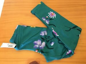 Old Navy Girl Green Flower Floral Leggings NEW