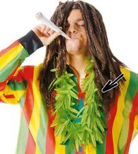 VERT FEUILLE DE Marijuana Collier Fleurs Hawaïen Hula Déguisement jamaïcain