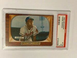 "1955 Bowman Hank Aaron #179 PSA 3 ""Beautiful Card"" ""WoW"""