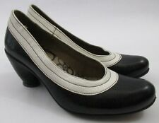 Fly London Womens Black White Pumps Heels Retro Pin Up Size 36 US 5.5 6
