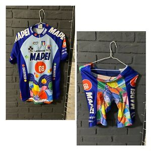 Retro cycling set jersey a shorts sportful mapei colnago latexco uci 1995 sz xxl