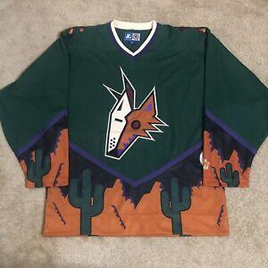 Starter Phoenix Coyotes Peyote Desert NHL Hockey Jersey Green Alternate Third M