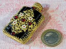 magnifique ancien flacon parfum de sac époque XIXéme