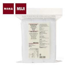 [MUJI MoMA] COTTON PUFF Fine Quality White Facial Pads 60x50mm 189pcs JAPAN NEW