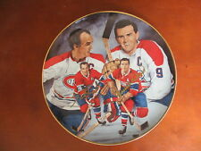 Maurice & Henri Richard 1993 Hockey Legends Autographed Collector Plate Montreal