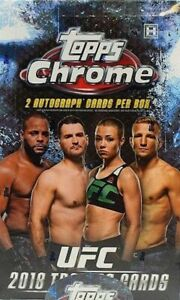 2018 Topps Chrome UFC Complete Your Set Choose From List 1-100 CASE FRESH