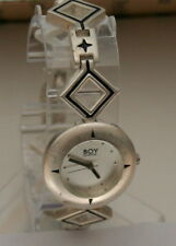 Rare Woman's Boy London Triangle Metal Designer Bracelet Watch New NOS 1990s