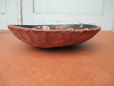 Antique Wooden BowL  paint decorated