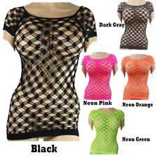 New Sexy Short Sleeve Fishnet Shirt Top Go Go Dance Wear One Size (S.M.L)