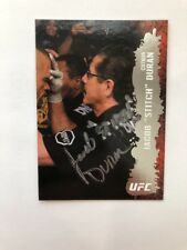 New listing JACOB STITCH DURAN SIGNED 2009 TOPPS UFC ROUND 2 CREED BOXING MMA AUTOGRAPH AUTO
