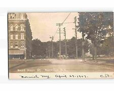 St1840: West Main Street Norwich Ny (Rppc/postcard 1907 Pm)