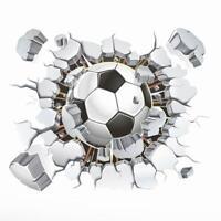 15x12cm DIY Removable 3D Soccer Ball Football Wall Car Body Sticker Decal R1BO