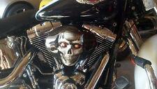 chopper bobber harley custom  skull Twin Cam  aircleaner cover