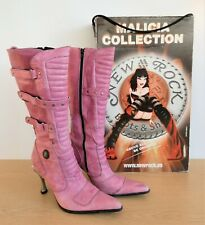 New Rock Malicia Collection Women's Fuchsia Leather Knee High Boots EUR 40