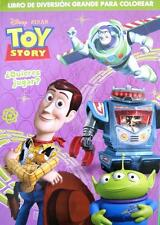 TOY STORY 96 Page Kids Jumbo SPANISH Colouring & Activity Book NEW