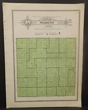 Illinois Christian County Map Prairieton Township c1930 W20#18