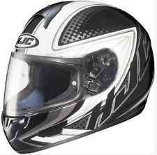 HJC MOTORCYCLE HELMET with ANTIFOG PINLOCK! XL NEW Silver rrp$299 Fibreglass