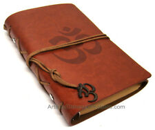 Chinese Stationary Chinese Leather Journal - Om - Brown