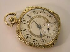 Gold Filled Pocket Watch -Runs Good Timer Vintage 1922 Illinois Art Deco 12S 17J