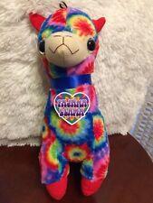 "Good STUFF tye-dye PAJAMA LLAMA ALPACA  plush stuffed animal toy 13"" 2016 NWT"