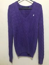 Mujeres Suéter Jumper Cardigan 'Ralph Lauren pequeño púrpura