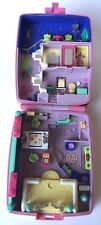 Vintage 1994 Bluebird Polly Pocket Star Bright Dinner Party Pink Bow Case