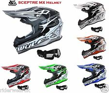Caschi Moto WULF SCEPTRE Casco Motocross off-road Quad Cross Enduro MX occhiali
