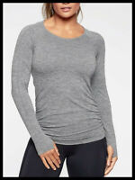 Athleta NWT Women's Speedlight Heather Top Size Small / Grey Heather