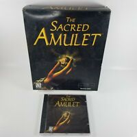 The Sacred Amulet (PC, 2000) Big Box - Open Box Game Disc Still Sealed
