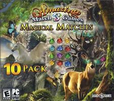 Magical Matches; Amazing Match 3 Games (PC DVD, 2018), 10 Pack, New w/Slip-Cover